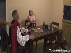 Full video list category cumshot (925 sec). Sex game ends in a threesome.