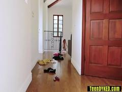 Free movie category sex_toys (360 sec). Angry MILF stepmom rough punished a teen with a dildo.