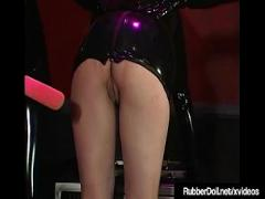 Stars video link category bdsm (450 sec). Latex Babe RubberDoll Brings Rubberella to screaming orgasm!.