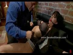 XXX stream video category anal (240 sec). Hot busty brunette vandalized and humiliated in brutal violent bondage sex.