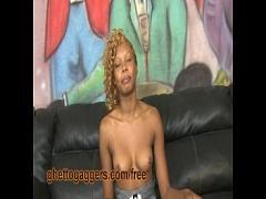 Sexy video category exotic (240 sec). Ebony Hottie Deepthroats White Dick.