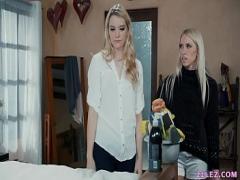Stars sensual video category lesbian (373 sec). Blonde lesbian house cleaners Kenna James and Khloe Kapri.