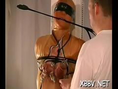 Sexy hub video category bdsm (310 sec). Non-professional gets pussy ravished during breast thraldom xxx.
