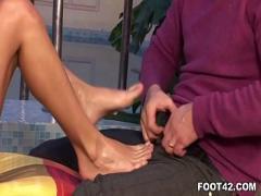 Nice seductive video category feet (439 sec). Jasmine Rouge - Foot Fetish Daily.