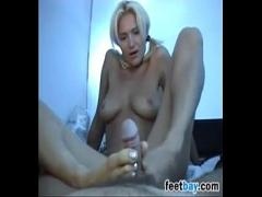 Stars x videos category feet (470 sec). Cute Blonde Gives A Foot Job Point Of View.