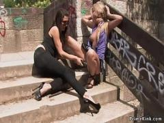 Stars video category bdsm (309 sec). Stunning blonde anal fuck at public bus.