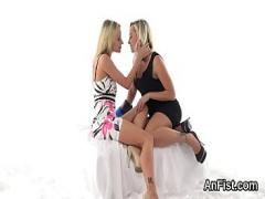 Genial amorous video category ass (334 sec). Spicy lesbian stunners are fist fucking wet snatches and anuses.