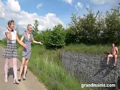Embed pornography category cumshot (343 sec). Two Grandmas Are Sucking the Life Out of an Innocent Twink.