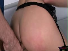 Embed porno category anal (295 sec). Sexy brunette babe spit roasted by cocks.