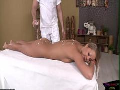 Good porno category anal (295 sec). Gorgeous blonde gets ass fucked after massage.