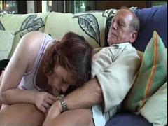 Cool video category cumshot (360 sec). Granny foursome.